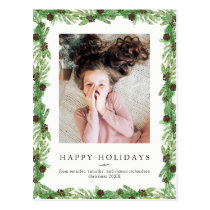Holiday Pine | Christmas Photo Postcard