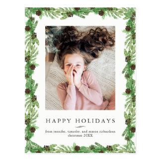 Holiday Pine | Christmas Photo Postcard