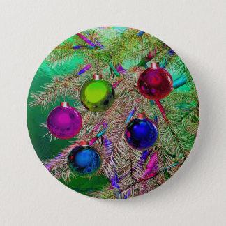 Holiday Pine Decor Button