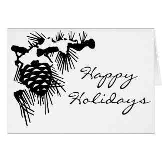 Holiday Pinecone Card