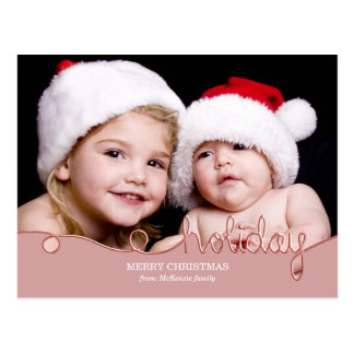 Holiday (Pink) Post Card
