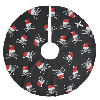 Holiday Pirate Skulls #2 Brushed Polyester Tree Skirt