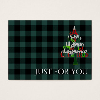 Holiday Plaid Merry Christmas Gift Certificate