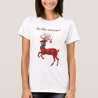 Holiday Plaid Reindeer, tis the season! T-Shirt