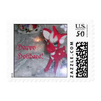 Holiday Plastic Doe Postage