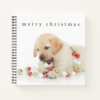 Holiday Playtime Puppy Notebook