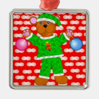 Holiday Plush Teddy Ornament