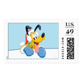 Holiday Pluto Postage Stamp