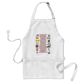 holiday poem adult apron