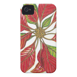 Holiday Poinsettia | Customizable iPhone 4 Case-Mate Cases