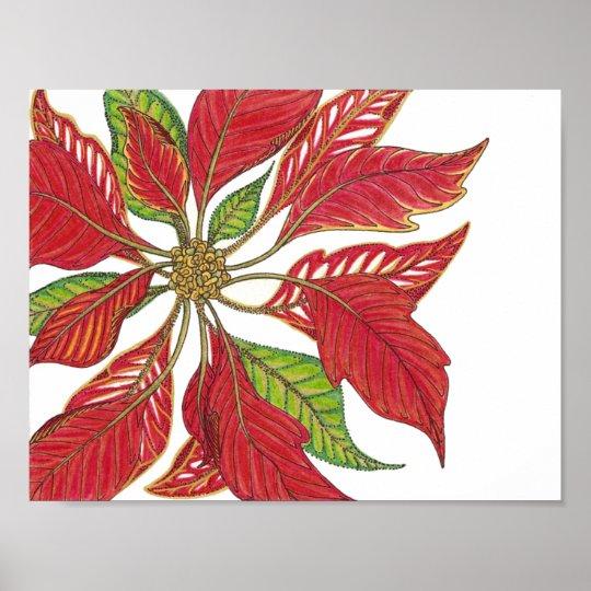 Holiday Poinsettia | Customizable Poster