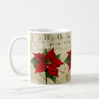Holiday Poinsettia Mugs