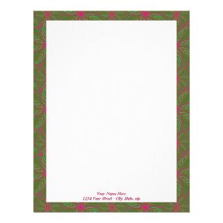 Holiday Poinsettia Pattern Custom Letterhead