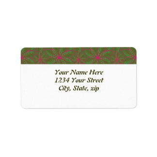 Holiday Poinsettia Pattern Label