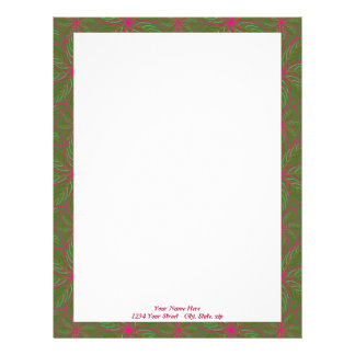 Holiday Poinsettia Pattern Letterhead