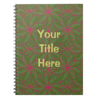 Holiday Poinsettia Pattern Notebook