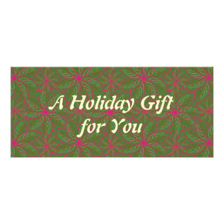 Holiday Poinsettia Pattern Customized Rack Card