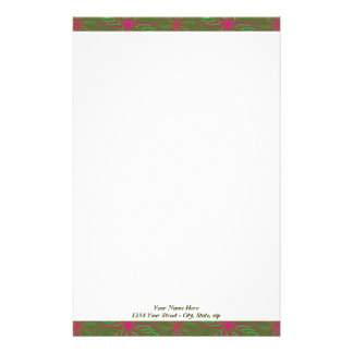 Holiday Poinsettia Pattern Stationery