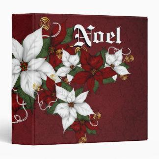 Holiday Poinsettias Wedding Guestbook Photo Binder