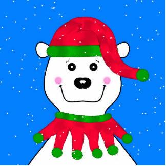 Holiday Polar Bear Acrylic Cut Outs