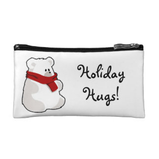 Holiday Polar Bear Cartoon Cosmetic Bags