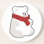 Holiday Polar Bear Drink Coasters
