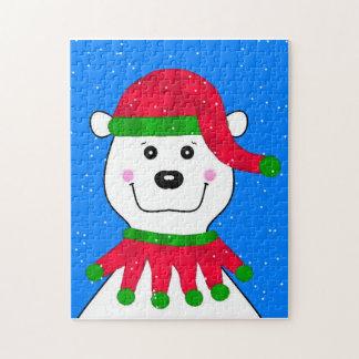 Holiday Polar Bear Jigsaw Puzzle