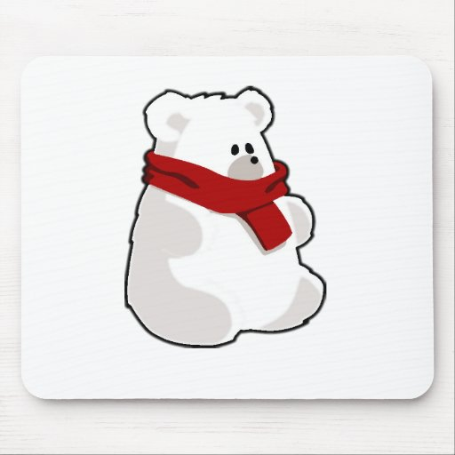 Holiday Polar Bear Mousepad