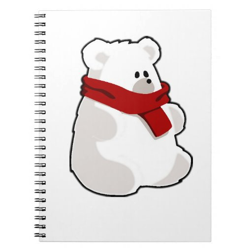 Holiday Polar Bear Spiral Note Book