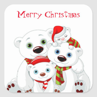 Holiday Polar Bears Stickers