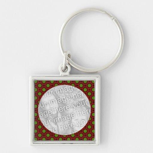 holiday polka dots keychains