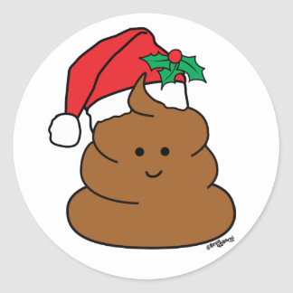 Holiday Poo Stickers