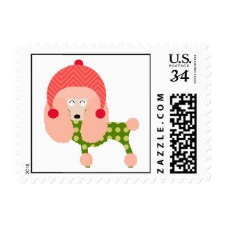 Holiday Poodle Stamps