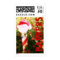 HOLIDAY POSTAGE....BARBERING PROFESSION POSTAGE