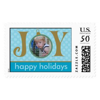 Holiday Postage Joy Photo (large) :: Blue