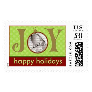 Holiday Postage Joy Photo (large) :: Green