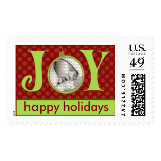 Holiday Postage Joy Photo (large) :: Red