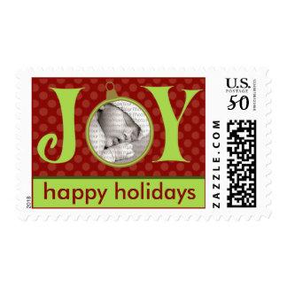 Holiday Postage Joy Photo (medium) :: Red