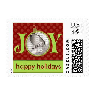Holiday Postage Joy Photo (small) :: Red