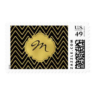 Holiday Postage Stamps | Christmas Monogram