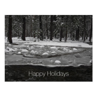 Holiday Postcard - Icy Merced River, Yosemite