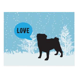 Holiday Postcards - Pug