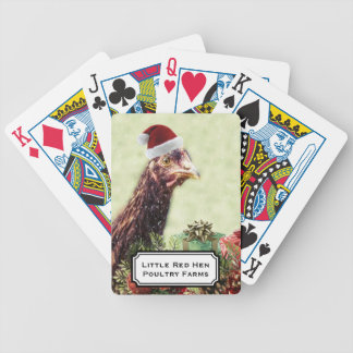 Holiday Poultry Christmas Chicken Bicycle Playing Cards