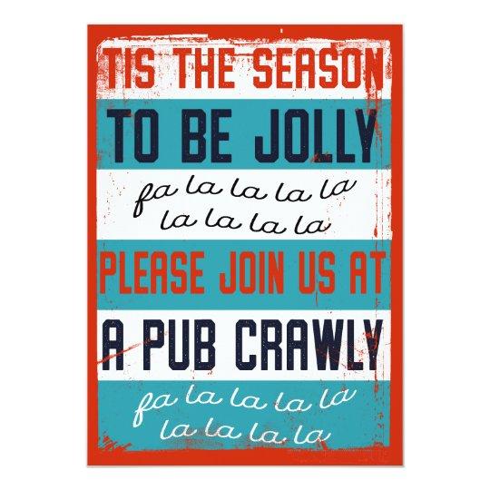 Holiday Pub Crawl Beer Crawl Invitation Zazzle Com