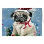 Holiday Pug Dog Design Greeting Cards