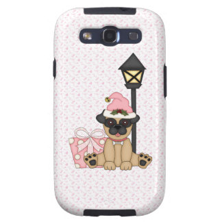 Holiday Pug with present pink Galaxy SIII Cover
