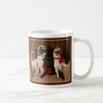 Holiday Pugs with Red Bows by Pugs and Kisses Coffee Mug