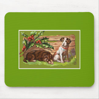 Holiday Puppies Mouse Pad