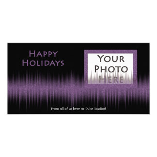 Holiday Purple Beat Photocard Card
