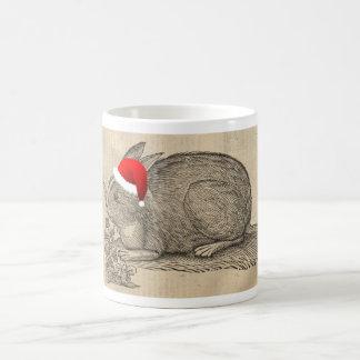 Holiday rabbit coffee mug